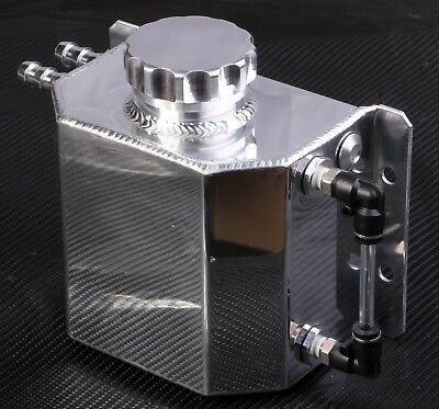 Oil Catch Can Fittings Universal Breather Tank Crank Breather Square Silver