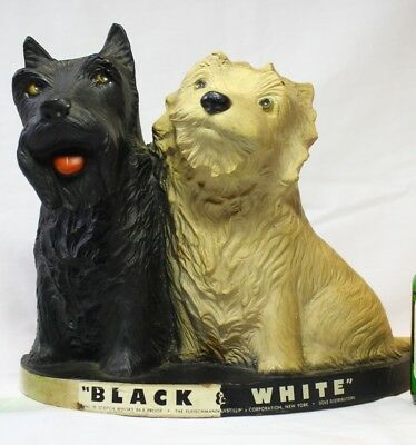Black & White Scotch Whiskey Bar Display Scottie Dogs EXCELLENT CONDITION