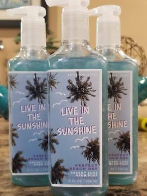 3 Bath Body Works LIVE IN THE SUNSHINE PERFECT BEACH DAY Creamy Luxe Hand Soap