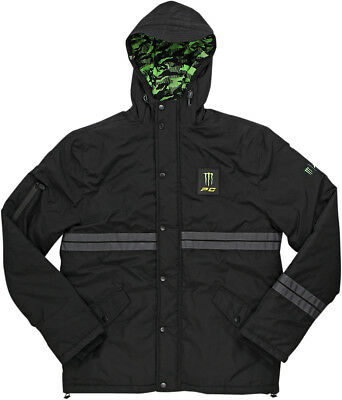 Pro Circuit 2017 Adult Windbreaker Black Parka Coat Monster Energy Size S-XL
