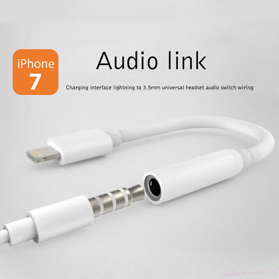 For iPhone 7 Earphone Lightning To 3.5mm Headphone Jack Aux Audio Adapter Cable