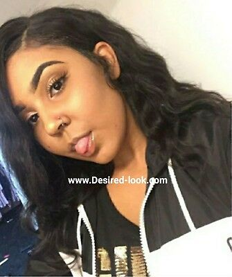 100% Brazilian Human Hair 10 Inch Body Wave Lace Front Wig