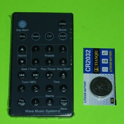 BLACK Remote For Bose Wave Radio/CD Music System AWRCC1 AWRCC2 AWRCC3 + Battery