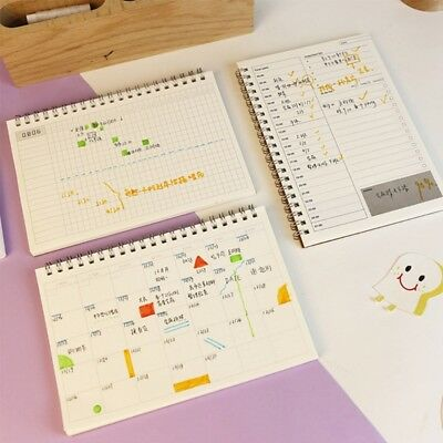 Planner Book Monthly Weekly Daily Agenda Schedule Blank Diary DIY Study Notebook