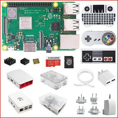 2018 Raspberry Pi 3 B+ (B Plus) Do-It-Yourself (DIY) Kit - White