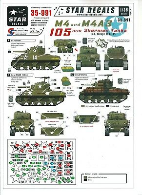 Star Decals 35991 - M4 and M4A3 105 mm Sherman Tanks N.E. Europe 1941-45 - 1/35