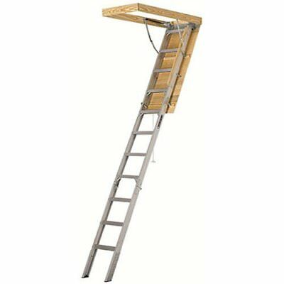 375lb Capacity Loft Stair Way Aluminum Pull Down Attic Ladder Insulated Panel