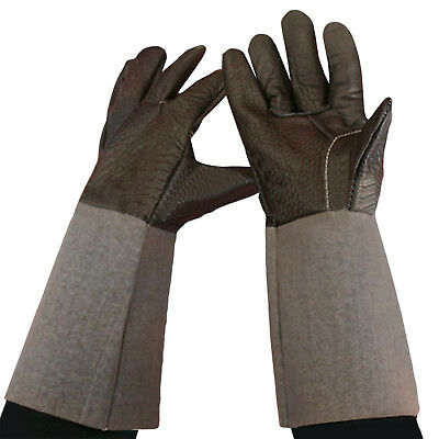 Durable Welding Welder Work Soft Cowhide Leather Plus Gloves Hand Protection UP