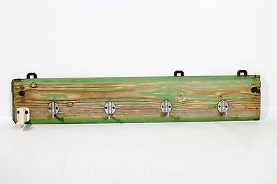 Beautiful Old Wardrobe Hangers Hook Rail Holder Wood Retro Cult