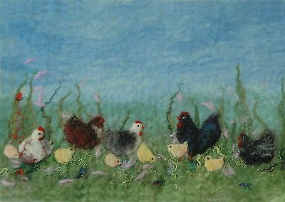 Chicken Picture Felt Kit with online tutorial