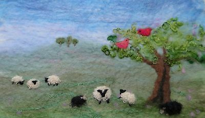Sheep Picture Felt Kit with online tutorial