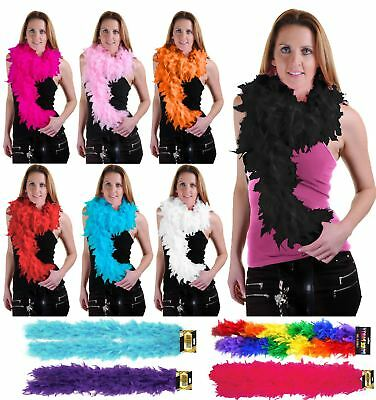 New Ladies High Quality Feather Boa Fancy Accessory Womens Hen Night Burlesque
