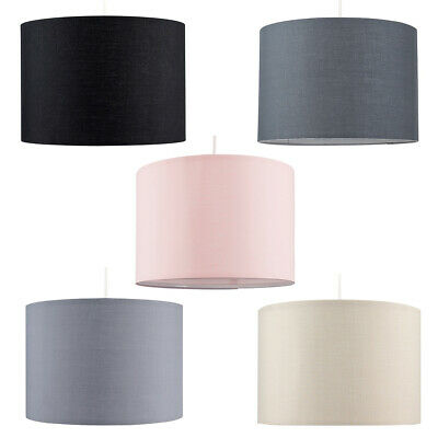 Modern Drum Light Shades Fabric Cotton Easy Fit Ceiling Pendant Table Lampshade