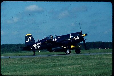 #1675 ORIGINAL AIRCRAFT SLIDE:USN Vought F4U-4 Corsair 97143/N713JT JT-416 (K64)