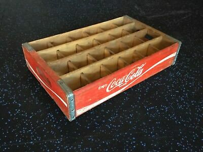 Vintage Coke crate Wood red with 24 dividers