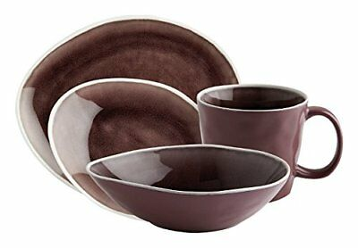 Fairmont & Main vie Naturelle Dinnerware set, melanzana, set di 16 (d2g)
