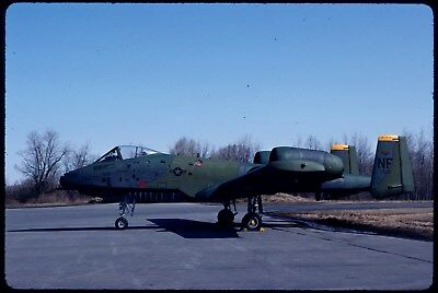 #1072 ORIGINAL AIRCRAFT SLIDE:USAF Fairchild A-10A Warthog 76-523/NF (K64)