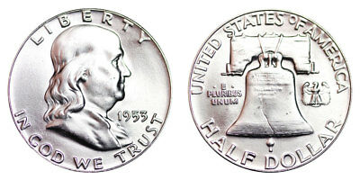 1953-P Franklin Half Dollar Brilliant Uncirculated- BU