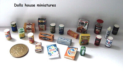 Modern Grocery Selection Dollshouse Miniatures