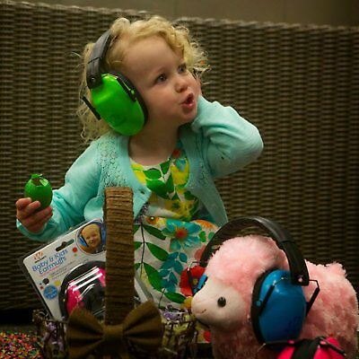 Kid Green Ear Muffs Noise Reduction Safety Hearing Protection Passive Game Small