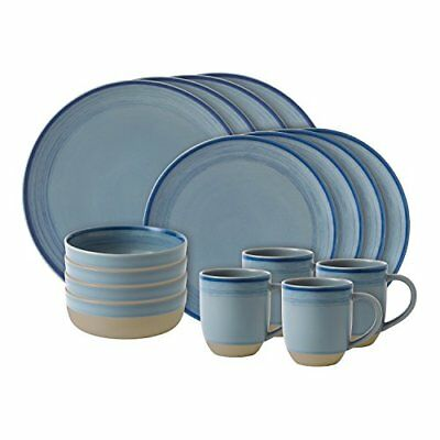 Royal Doulton spazzolato Glaze Polar Blue, set di 16 (b4x)