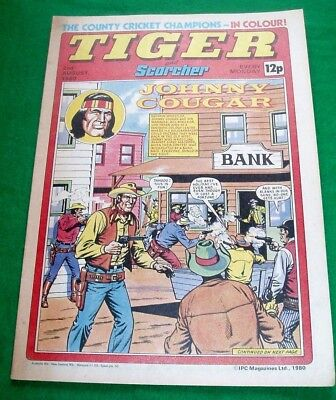 Tiger Comic 2/8/1980 With Essex C.c.c. Cricket Champions  Stunning Colour Poster