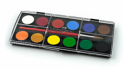 Faber Castell Water Colour Set 12 Colour + Artist Paint Brush
