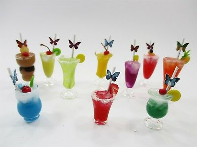 Dollhouse Miniatures Food Beverage Drinks Mixed Cocktail 10 Real Glass 13853