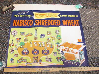 NABISCO Shred Wheat 1940s sign cereal box premium CIRCUS carnival paper dolls X