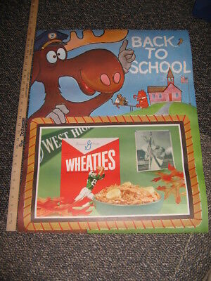 BULLWINKLE 1960s Twinkles Mr Peabody store display cereal box sign WHEATIES A