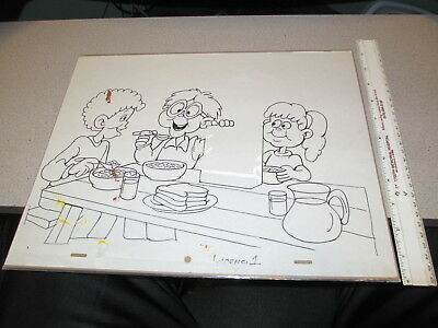 Mr Goodbuy cereal box cartoon 1970s animation cel drawing TV commercial KIDS