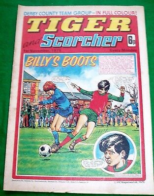 Tiger Comic 1/11/1975 With Derby County Team  Stunning Colour Centrefold Poster