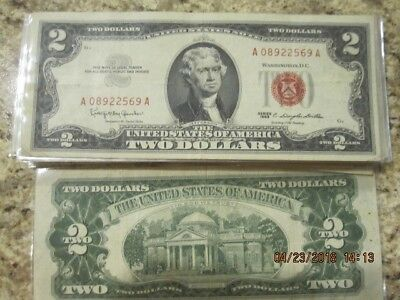 1963 $2.00 Red Seals - 1 Note Collection Paper Money Lot