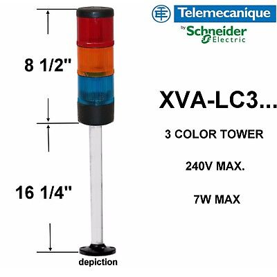 telemecanique xva-lc3 three color tower red amber blue with bracket