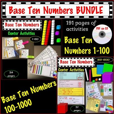 Teaching Maths Resources Printable PDF Base Ten for Activities Maths Centres