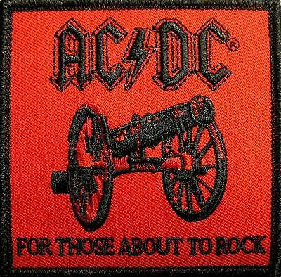 "Ac/dc Aufbügler / Embroidery Patch # 50 ""for Those About To Rock"" / Aufnäher"