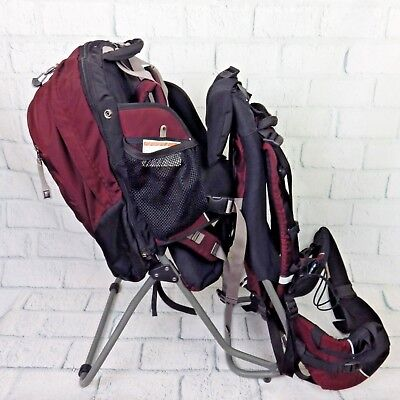 dacab781d9e REI PIGGYBACK BABY Child Carrier Camping Hiking Backpack Maroon Red ...