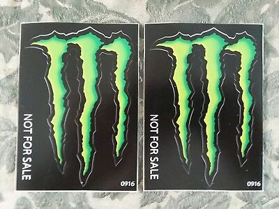 2 3.5x5 MONSTER ENERGY decals stickers