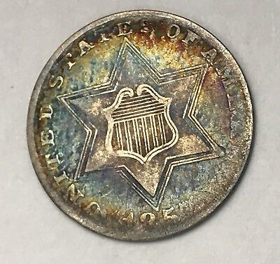 1857 THREE CENT SILVER.RARE COLLECTOR COIN FOR COLLECTION Or Set.
