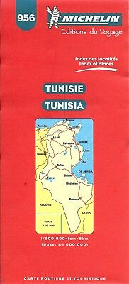 Michelin Map of Tunisia, Map # 956 (International Edition)