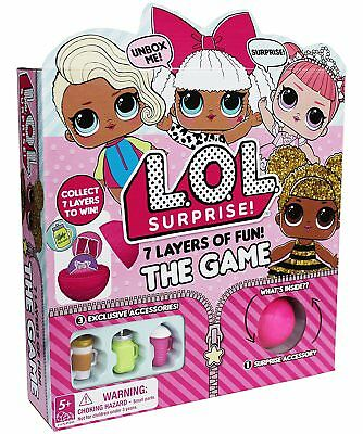 LOL Surprise Lil Sisters 7 Layers of Fun ~ The Game Action Board ~ FAST SHIPPING