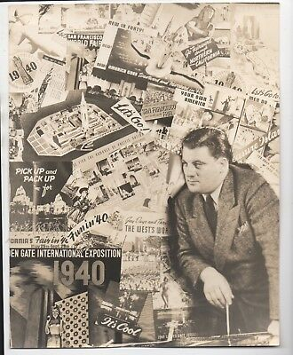 Large 1940 Photographic Collage from the GGIE World's Fair San Francisco CA