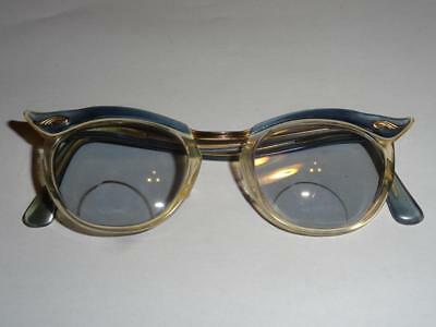 1950's 1960's Vintage Ladies Cats Eye Spectacles TOC 1/10 12K GF Gold Filled