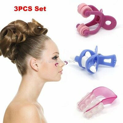 3pcs Nose Up Lifting Shaping Shaper Clipper Kit Bridge Straightening Beauty Clip