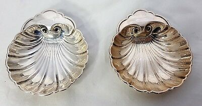 Pair Of Birks Sterling Silver Shell Form Pin / Ring  Dishes