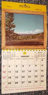 Vintage 1960 JOHN DEERE Farm Implement Dealer Premium CALENDAR