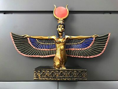 "Ancient Egyptian Mother Goddess Isis Open Wings 8.5""H Statue Figurine SUMMIT YTC"