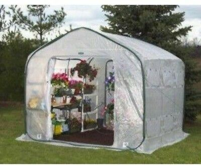 Pop-Up Greenhouse FarmHouse Open Floor Vegetables Herbs Growing Compact 9 x 9 ft