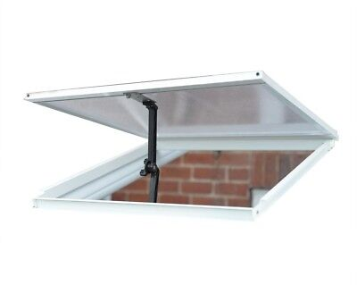 Sun Room Roof Vent Aluminum White Greenhouse Cooling Accessory Opening