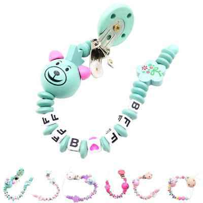 Safe Silicone Beads Pacifier Chain Holder Nipples Baby Chew Toys Teething Clips